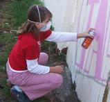 Community graffiti art project combats antisocial behaviour